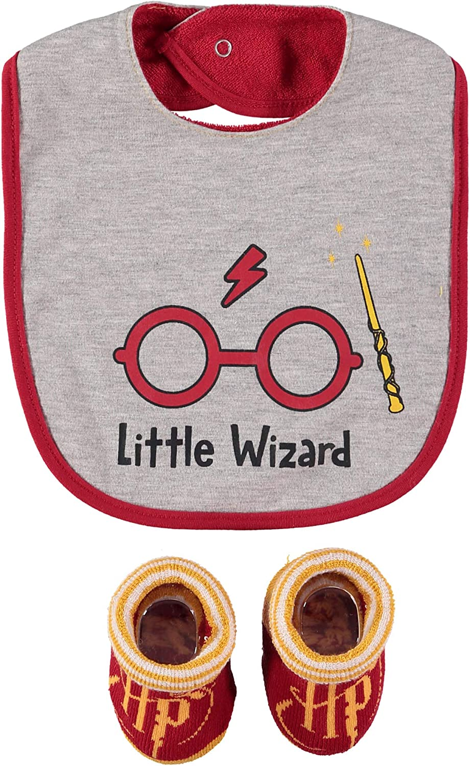 Harry Potter Infant Boys Bib and Bootie Gift Set