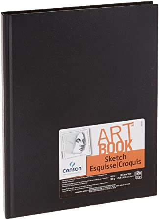 "Blank Drawing Book: 150 Pages, Extra Large 8.5"" x 11"" Sketchbook,  White Paper - Best for Crayons, Colored Pencils, Watercolor Paints and Very Light Fine Tip Markers"