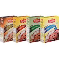 Five Star Ice Cream Mix Combo of Chocolate, Badam Pista and Kesar Pista, Vanilla- 100g Each (Pack of 4)