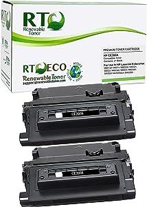 Renewable Toner Compatible Cartridge Replacement 90A CE390A for LaserJet Enterprise M601 M602 M603 M4555 (Black, 2-Pack)