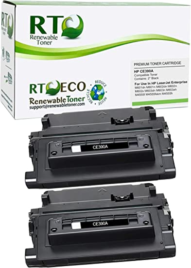 Inksters Compatible Toner Cartridge Replacement for HP 90A CE390A Black MICR Compatible with Laserjet Enterprise 600 M601DN M601N M602N M603DN M603XH Enterprise M4555 MFP M4555F 2 Pack