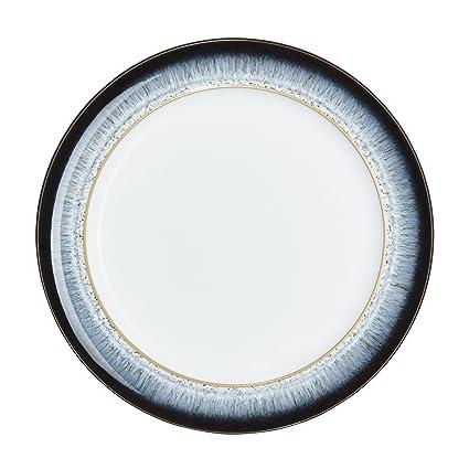 Denby (HLO-003W /4) Halo Wide Rimmed Dinner Plate Set of  sc 1 st  Amazon.com & Amazon.com: Denby (HLO-003W /4) Halo Wide Rimmed Dinner Plate Set ...