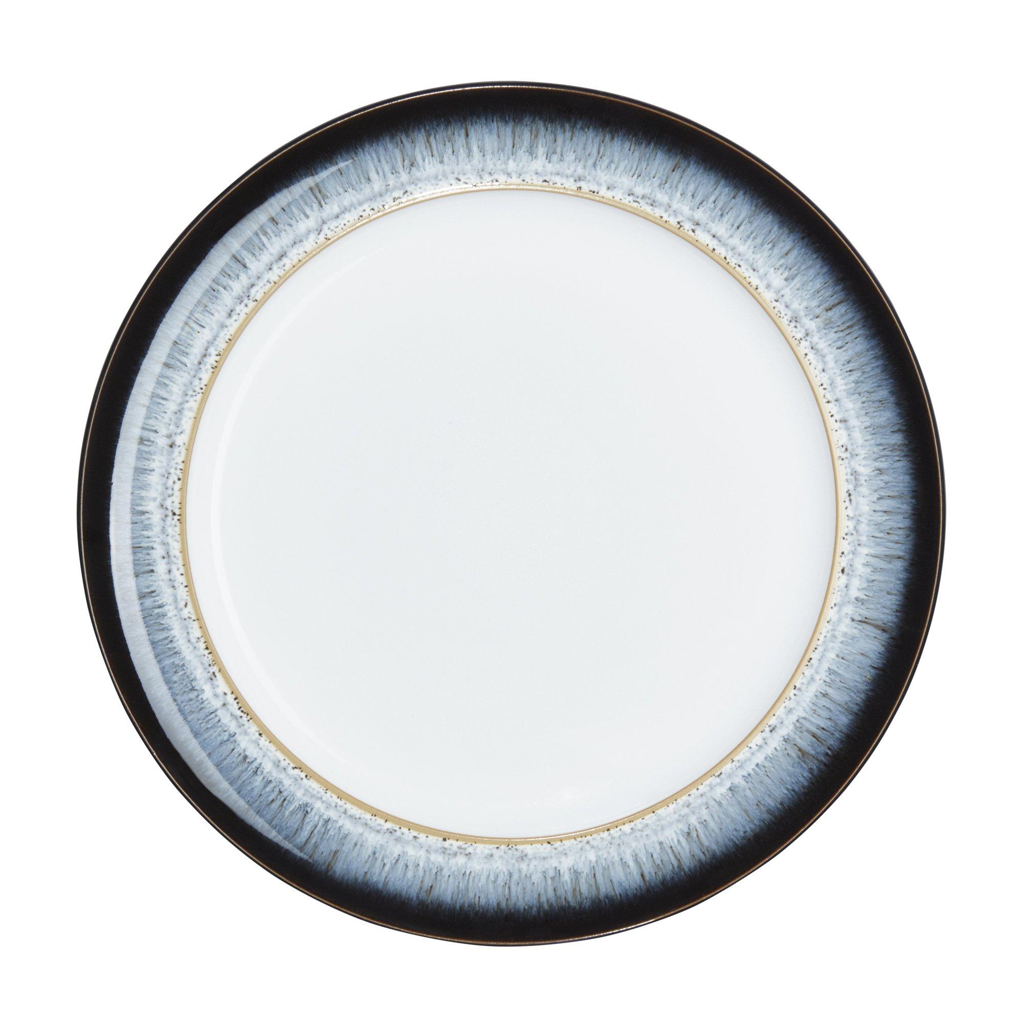 Denby Halo Wide Rimmed Dinner Plate, Set of 4