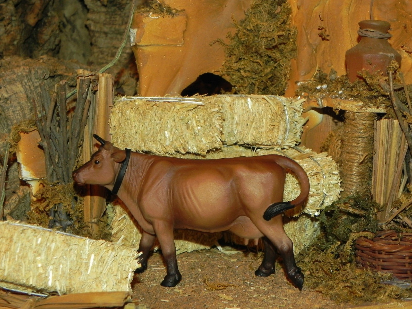 Collectible Animal Figurine Cow Nativity Scene 3.5'' Farm Figure - USA_Mall