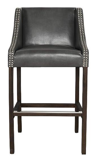 Phenomenal Amazon Com Benjara Bm195672 Leatherette Upholstered 30 Inch Inzonedesignstudio Interior Chair Design Inzonedesignstudiocom