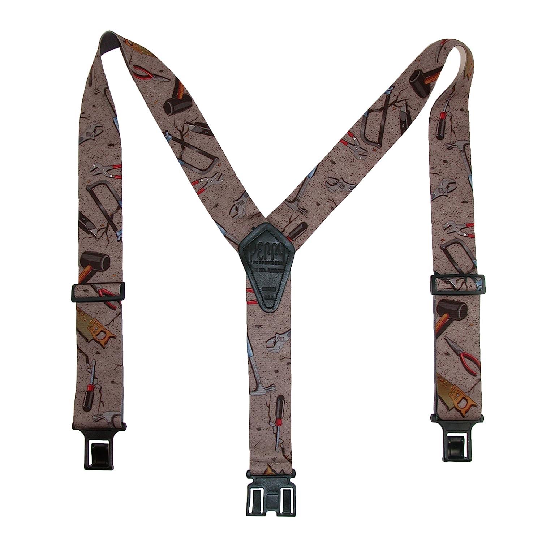11cc09988 Amazon.com  Perry Men s Hand Tools Novelty Belt Clip Suspenders (3 Sizes)   Clothing