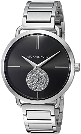 ea34ea270413 Amazon.com  Michael Kors Women s Portia Silver- Tone Watch MK3638 ...