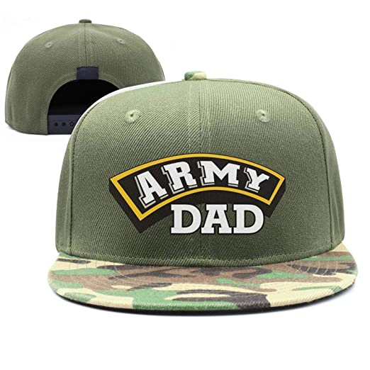 4d8c6f86447b7 Army dad Army Gifts Funny Adult Womens Mens camo Snapback caps at ...