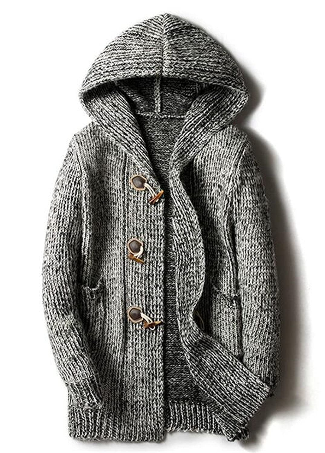 Soto6ro Autumn Winter Loose Long Mens Cardigans Sweaters