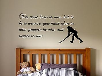 Amazon.com: Wall Decal Sticker Bedroom Field Hockey Sport ...