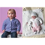 King Cole Baby Jackets, Hat & Blanket DK Knitting Pattern 2767 by King Cole - King Cole Patterns