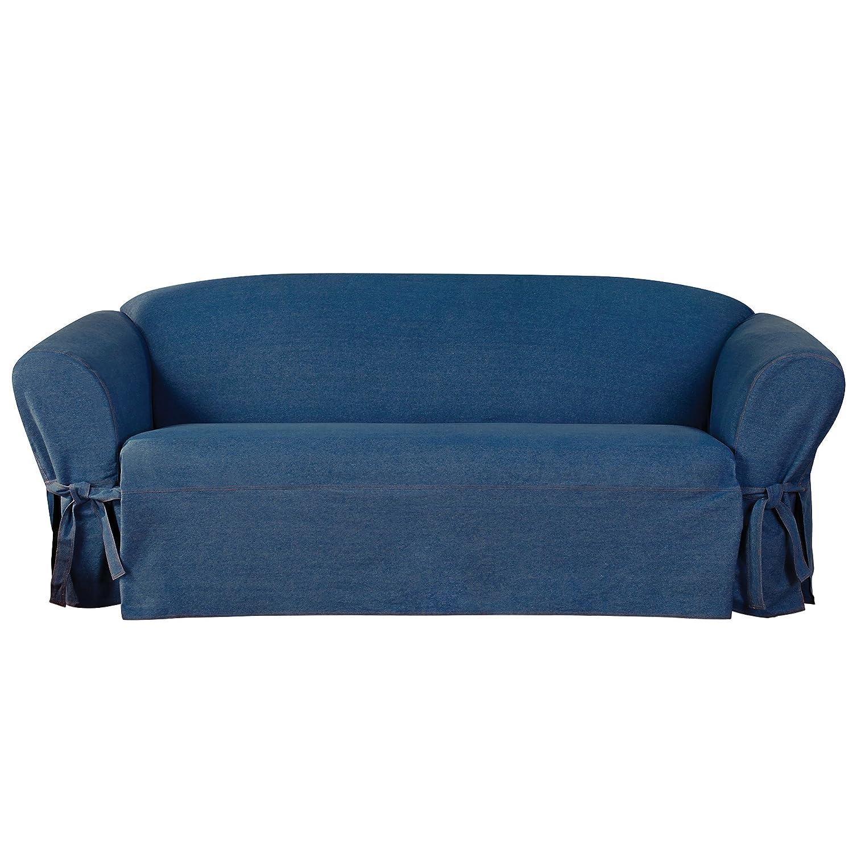 Sure Fit AuthenticデニムOne Piece t-cushionソファーSlipcover – インディゴ( sf44456 )   B079YYS58B