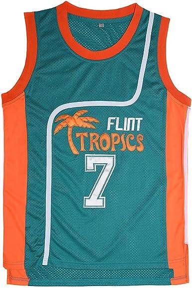 Coffee Black #7 Semi Pro Basketball Jersey Flint Tropics All Sizes