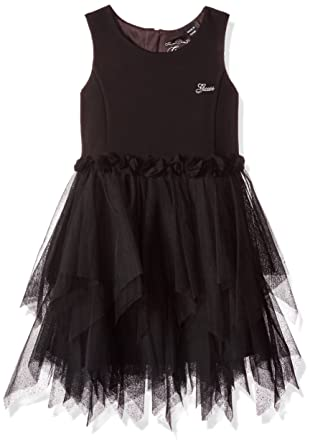 afb04e3dc GUESS Girls' Little Sleeveless Fit N Flare Dress, Jet Black, ...