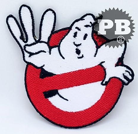 Parche con el logo de los Los Cazafantasmas totalmente bordado, para aplicar con plancha o