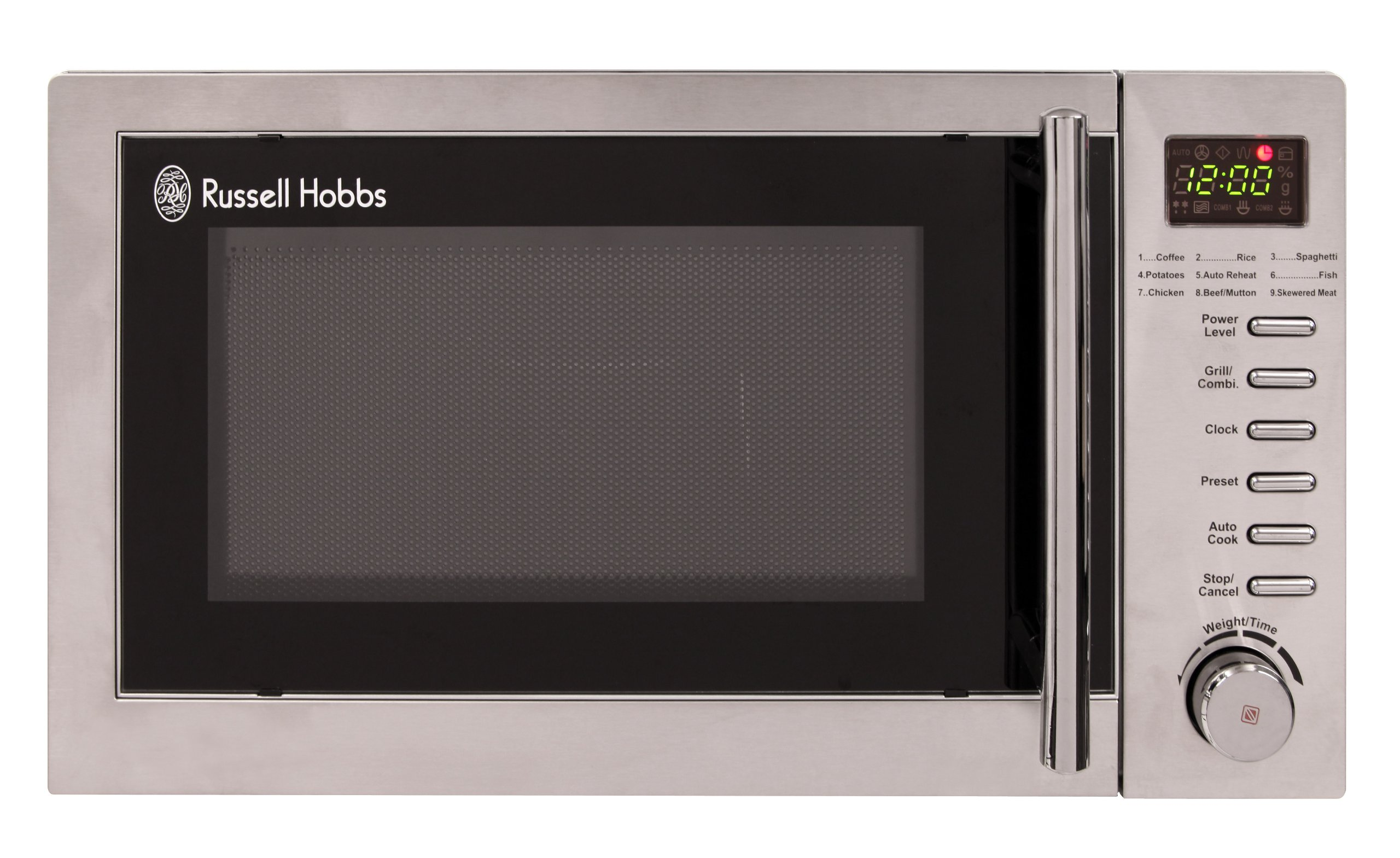 russell hobbs rhm2031 20 litre stainless steel digital microwave with grill new ebay. Black Bedroom Furniture Sets. Home Design Ideas