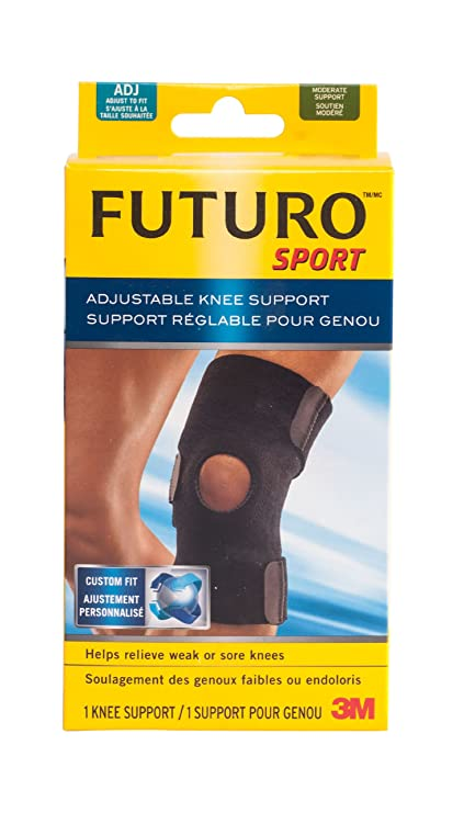 42fab3a505 Futuro Sport Adjustable Knee Support, One-Size, Black, (09039ENFR ...
