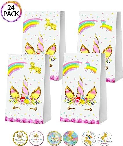 Amazon.com: QMZ Unicorn - Bolsas de regalo para fiestas de ...