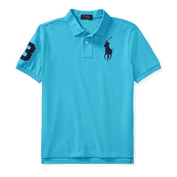 f24c1fe55 Ralph Lauren - Cotton Mesh Polo Shirt for 6 to 14 Years Old Boys - Margie  Blue: Amazon.co.uk: Clothing