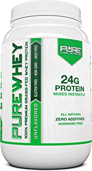 Grass Fed Whey Protein - 2lb Unflavored - 100% Natural, Cold Processed, Undenatured