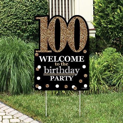 Amazon.com: Adulto 100º cumpleaños – Oro – Decoraciones de ...