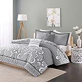 Intelligent Design ID10-369 Isabella Comforter Set, Full/Queen, Grey