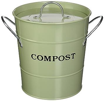 exaco cpbg 01 1gallon 2in1 indoor compost bucket green