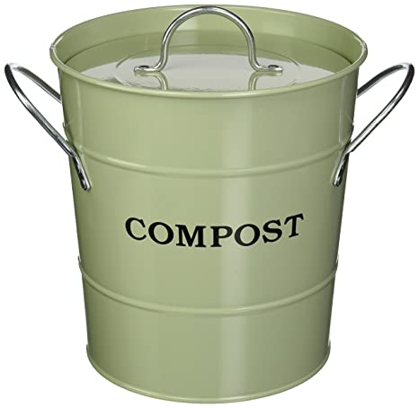 Attractive Exaco CPBG 01 1 Gallon 2 In 1 Indoor Compost Bucket, Green