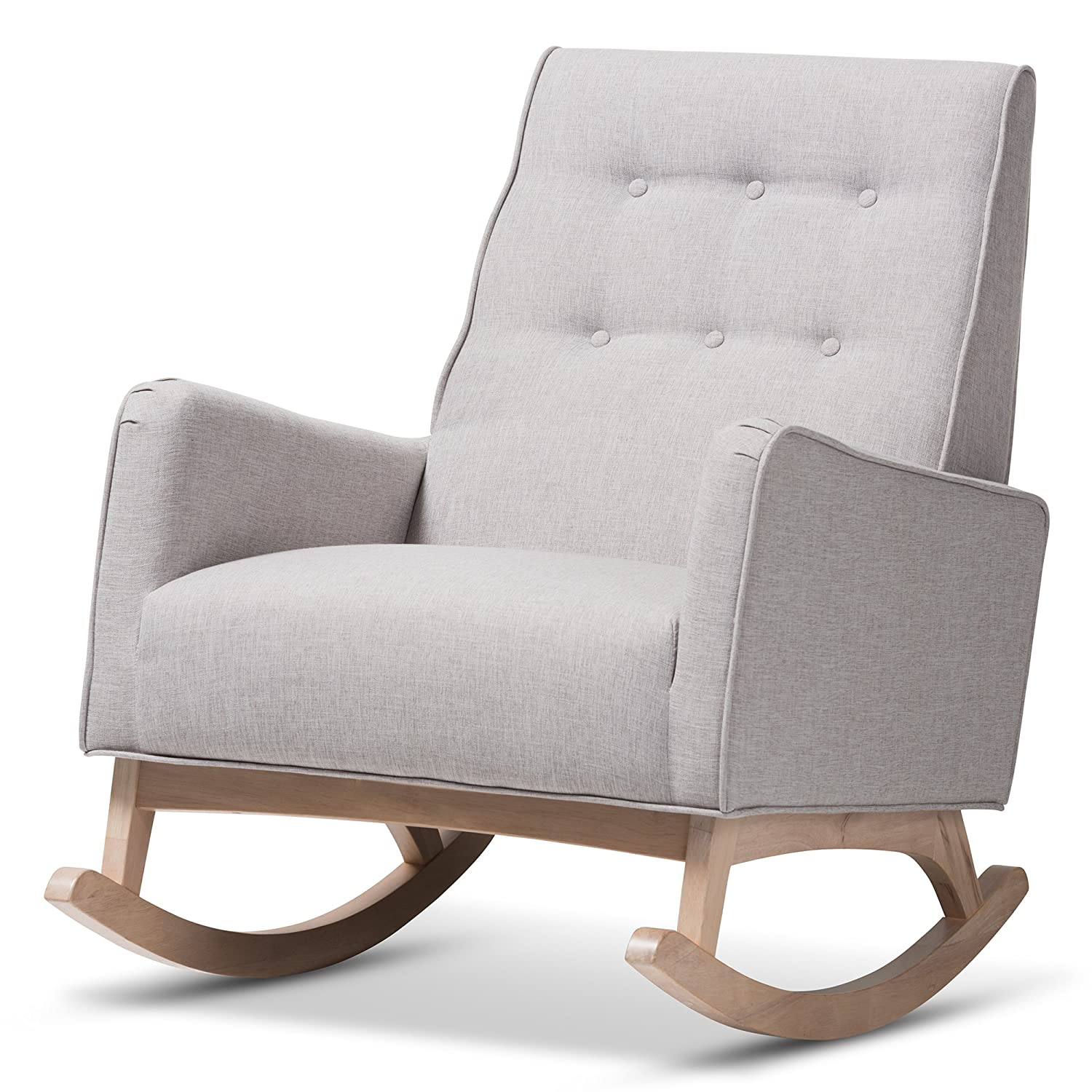 Fine Amazon Com Baxton Studio Mid Century Modern Rocking Chair Alphanode Cool Chair Designs And Ideas Alphanodeonline
