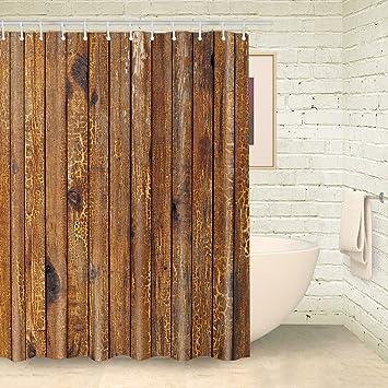 Foog Plateau Peep Toe Vorhang Fur Die Dusche Holz Streifen