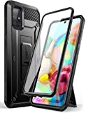 SUPCASE Unicorn Beetle Pro Series Designed for Samsung Galaxy A71 Case[Not Compatible with A71 5G Version], Full-Body Rugged Holster & Kickstand Case with Built-in Screen Protector (Black)