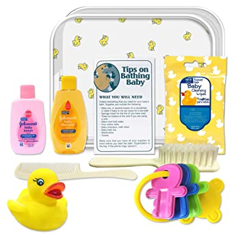 CONVENIENCE KITS Deluxe Baby Bath 9 PC Kit Featuring: Johnson