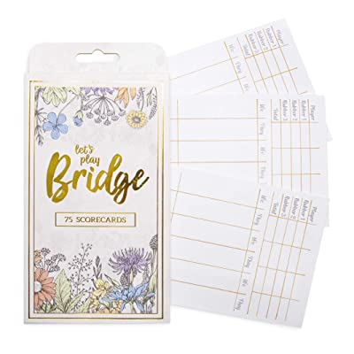 Bridge Scorecards, 75-Pack | Replacement Score Sheet Tally Pads | Must-Have Accessories for Game Night | Classic We/They Bridge Playing Card Game Scoring: Toys & Games