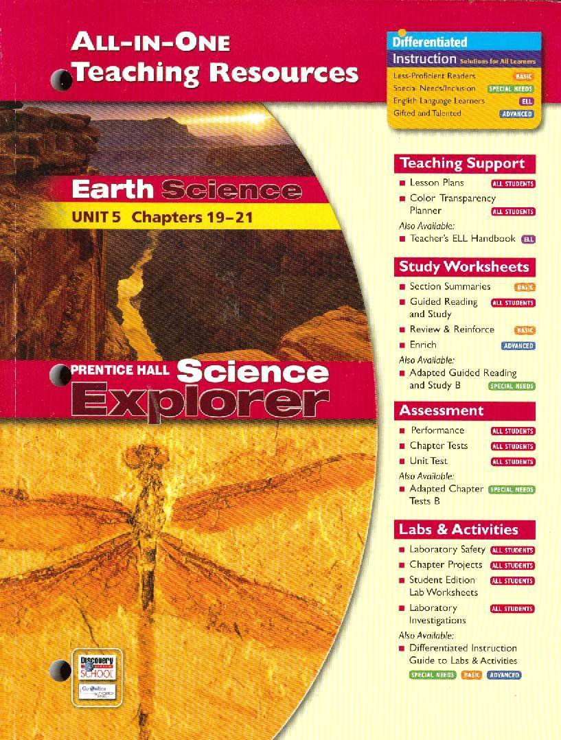 Workbooks physical science guided reading and study workbook : All-In-One Teaching Resources Earth Science Unit 5 Chapters 19-21 ...