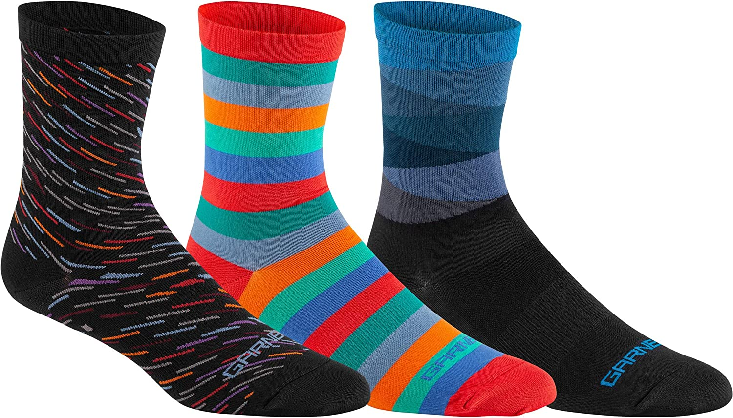 Louis Garneau, Conti Long Performance 3-Pack Cycling Socks for Men and Women