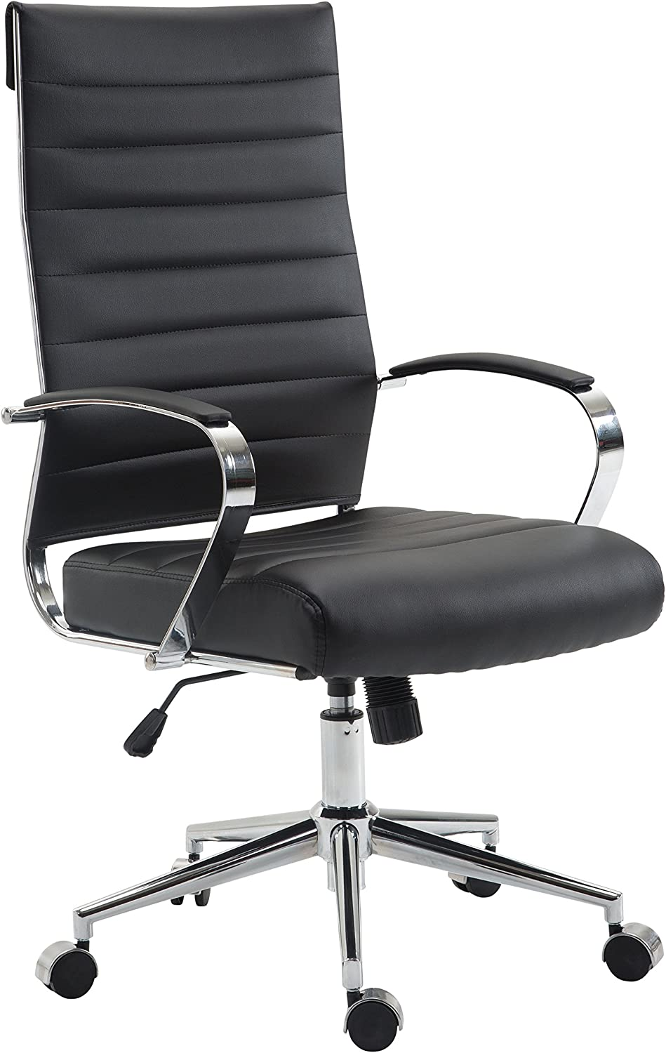 Poly and Bark Tremaine High Back Management Chair, Black