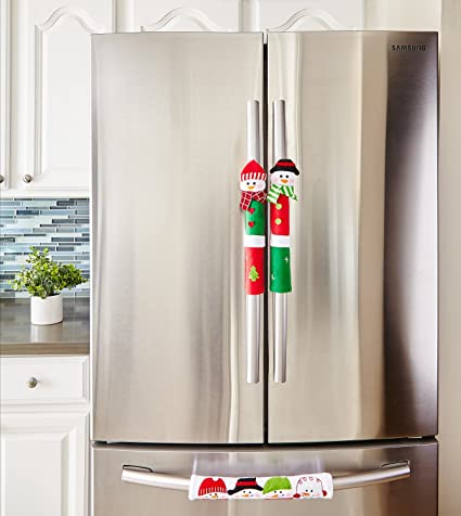 Snowman Kitchen Appliance Handle Covers   Set Of 3   Christmas Decoration  Idea