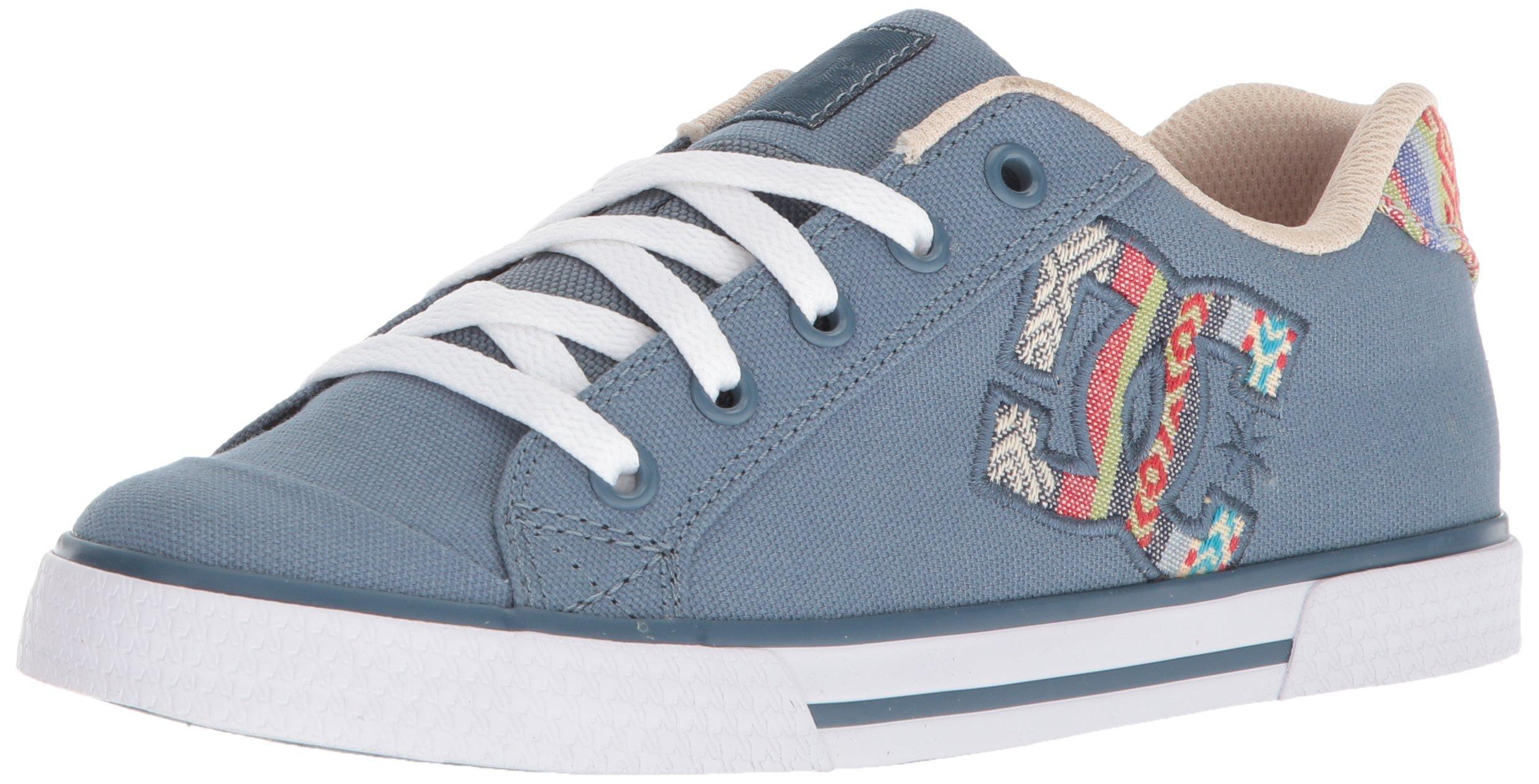 DC Women's Chelsea TX SE Skate Shoe, Blue/Blue/White, 9 B B US