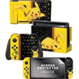 Controller Gear Nintendo Switch Skin & Screen Protector Set - Pokemon - Pikachu Set 1 - Nintendo Switch