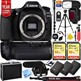 Canon EOS 80D 24.2 MP CMOS Digital SLR Camera Pro Memory Triple Battery & Grip SLR Video Recording Bundle - Newly Released 2018 Beach Camera Value Bundle (SLR Video Recording Bundle)