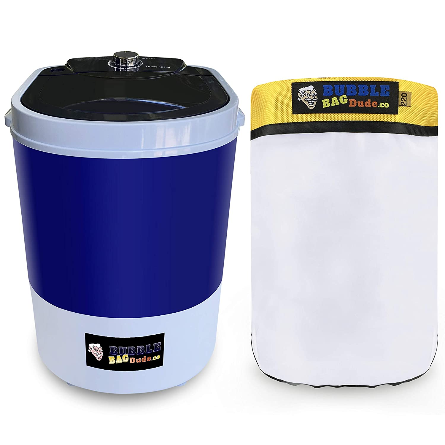 BUBBLEBAGDUDE Bubble Bags Machine 5 Gallon Small Mini Compact Washer Extracting Mini Washing Machine with 220 micron Zipper Bag Herbal Extractor