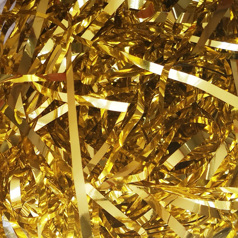 Hamper Filling and Gift Packaging Ideal for Gift Decoration Emartbuy 100 Grams Metallic Shredded Paper Gold