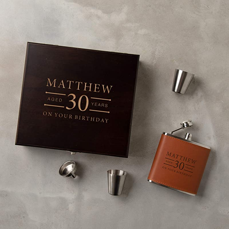 Mens 40th Birthday Gift Mens Birthday Gifts Stainless Steel Engraved Hip Flask with Solid Pewter Rugby Player Feature