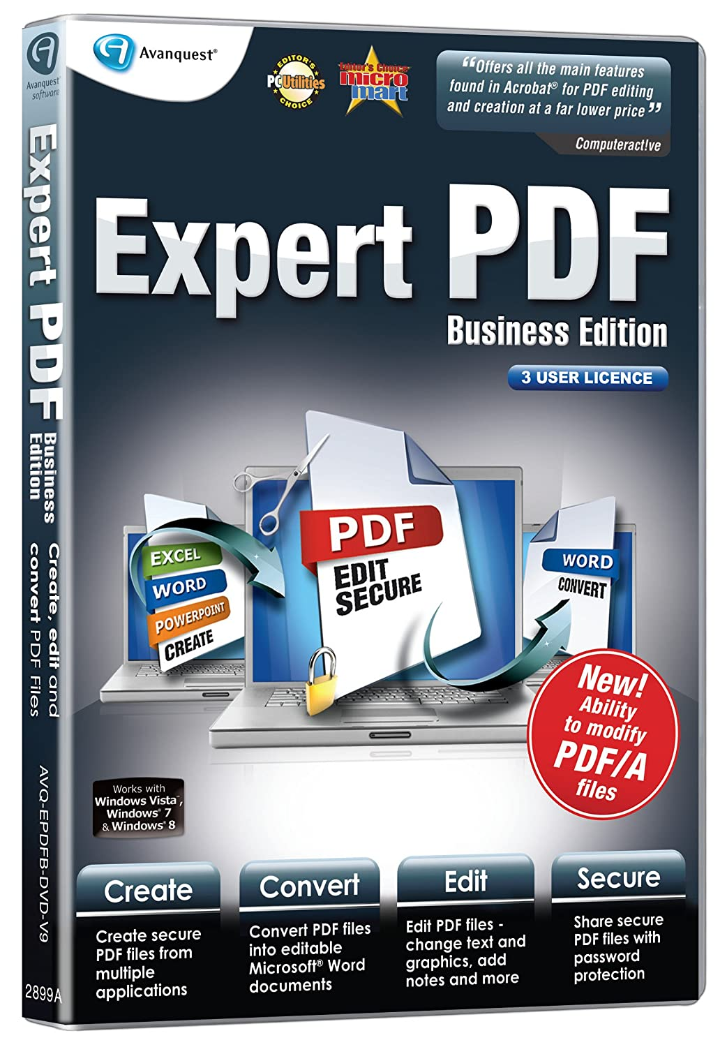 Avanquest expert pdf 9 business edition 3 user licence-neuf scellé.