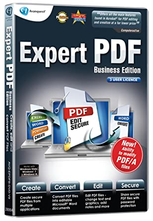 Avanquest expert pdf 9 business edition (3 user licence) adl-epdfb.