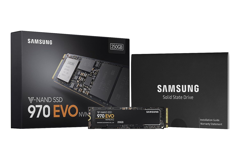 Black Samsung 970 EVO 250 GB V-NAND M.2 PCI Express Solid State Drive