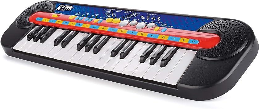 Toyrific teclado electrónico con pilas, con ritmos y canciones de demostración