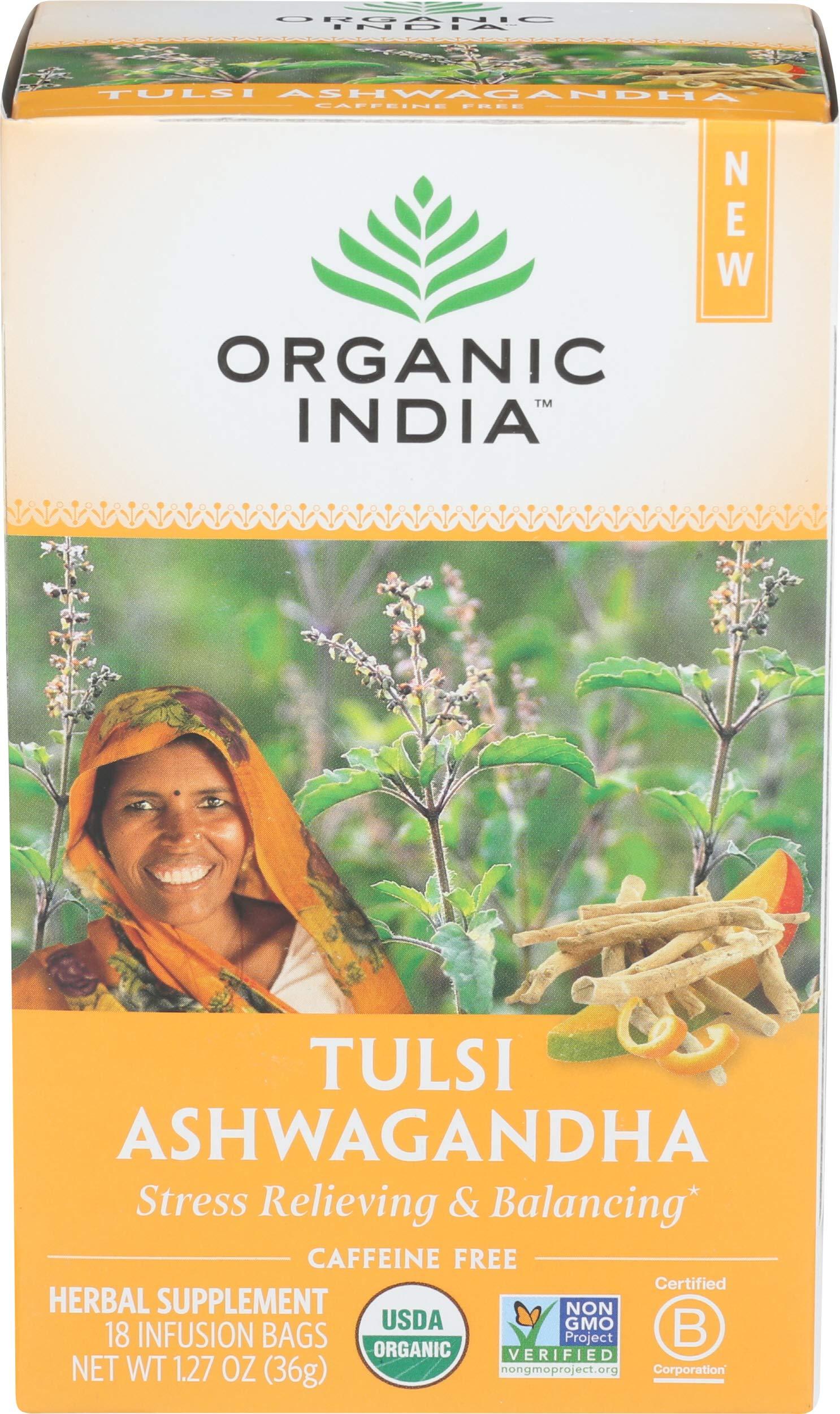 ORGANIC INDIA Tulsi Infusion Tea: Ashwagandha, 18 CT