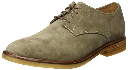 CLARKS SHOES CLARKDALE MOON OLIVE SUEDE