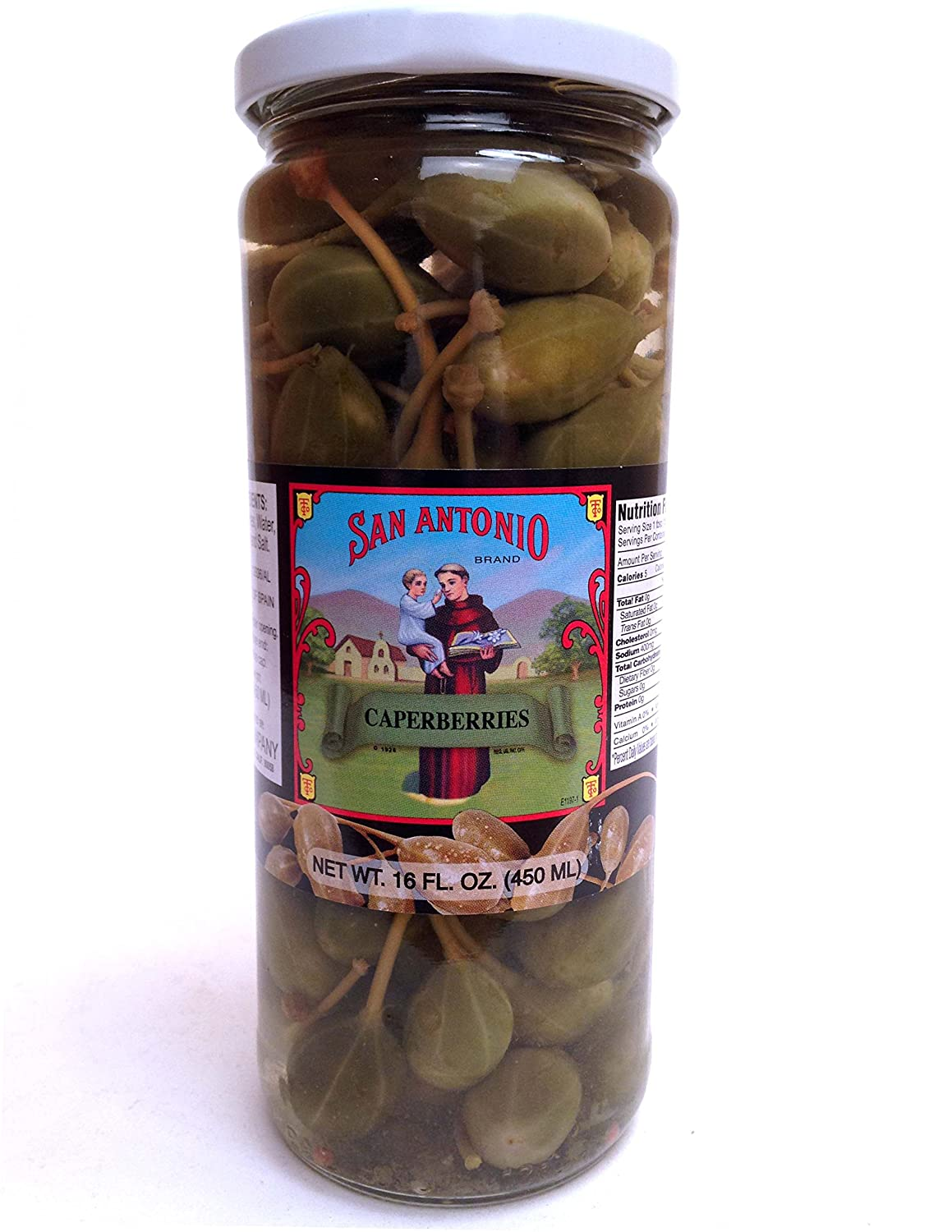 16 oz Imported Caperberries (Caper Berries) in Vinegar and Salt Brine 81u-c2BQR62L